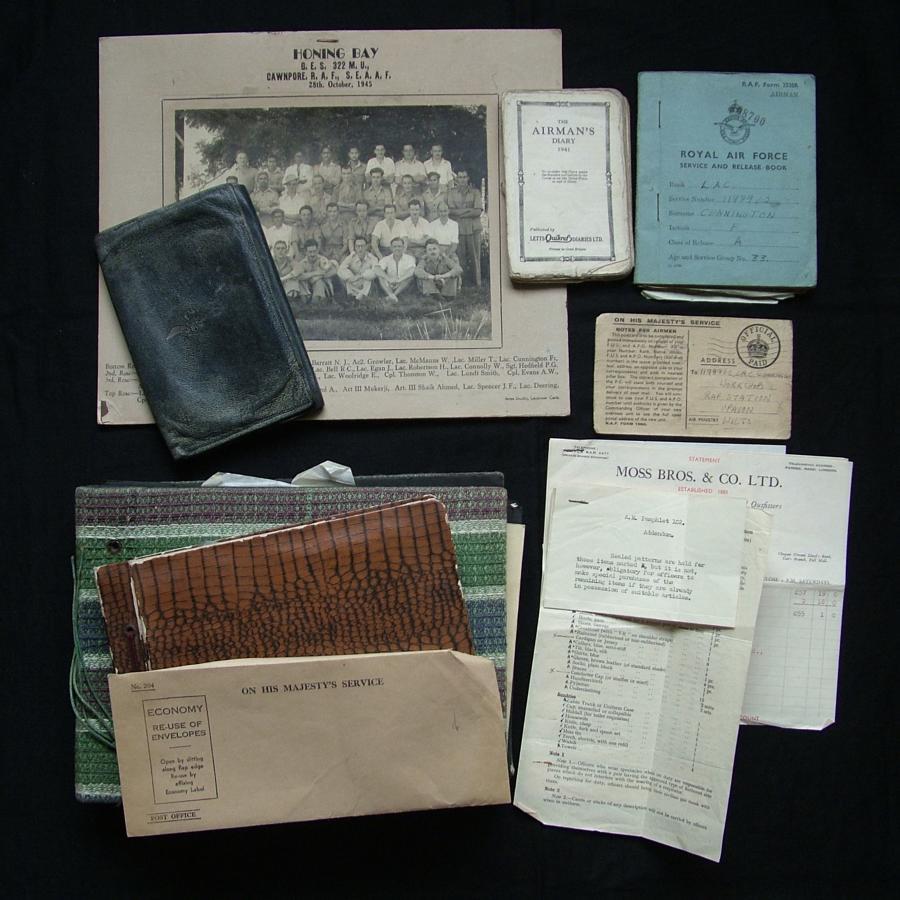 RAF paperwork & photo albums - Cawnpore, India