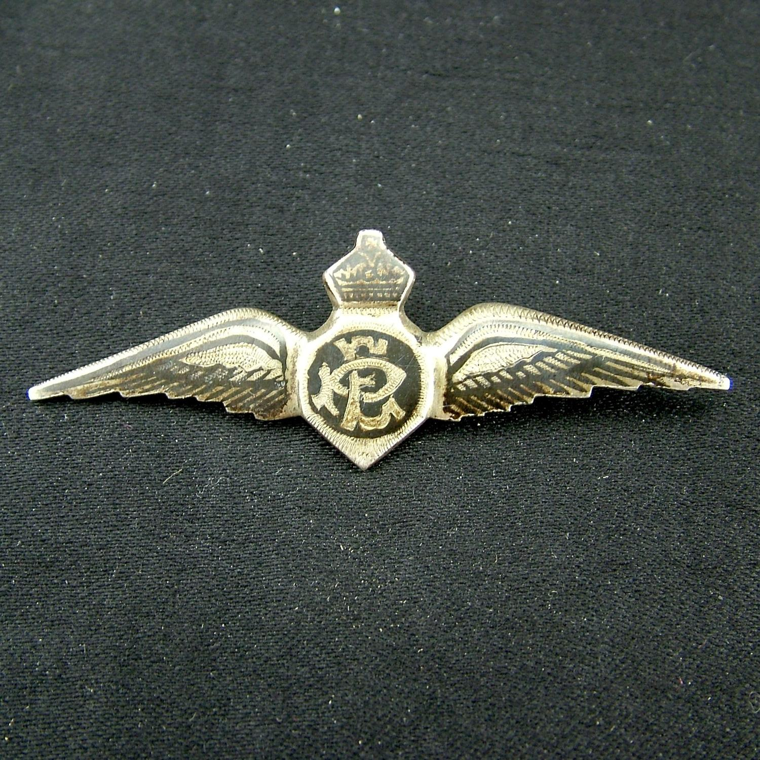 RAF sweetheart wing dated 1943