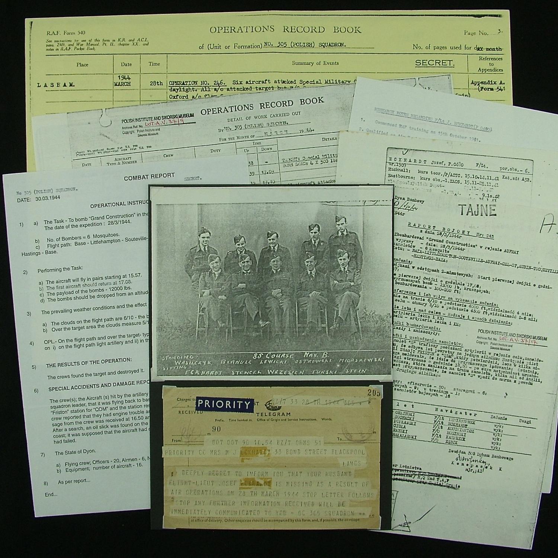 RAF Polish bomber command MIA telegram