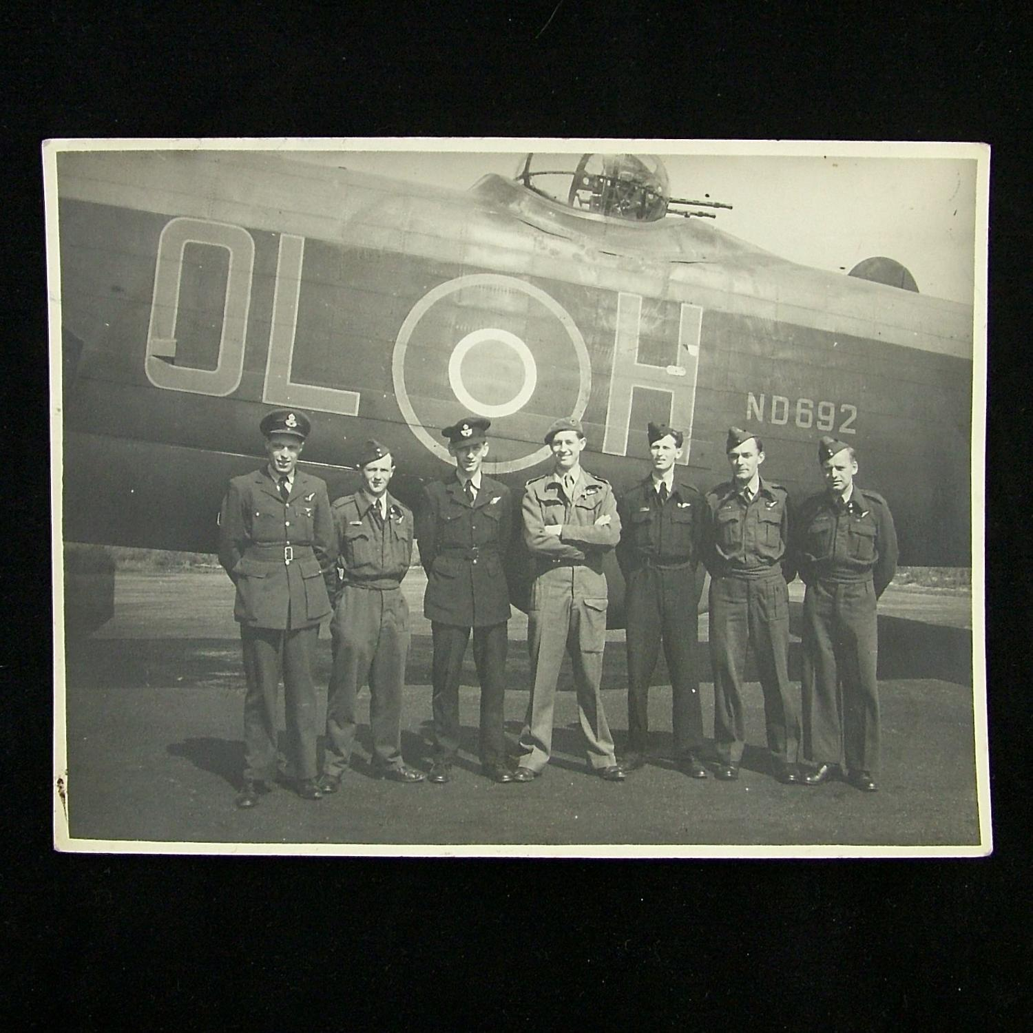 RAF crew photo with Lancaster - history