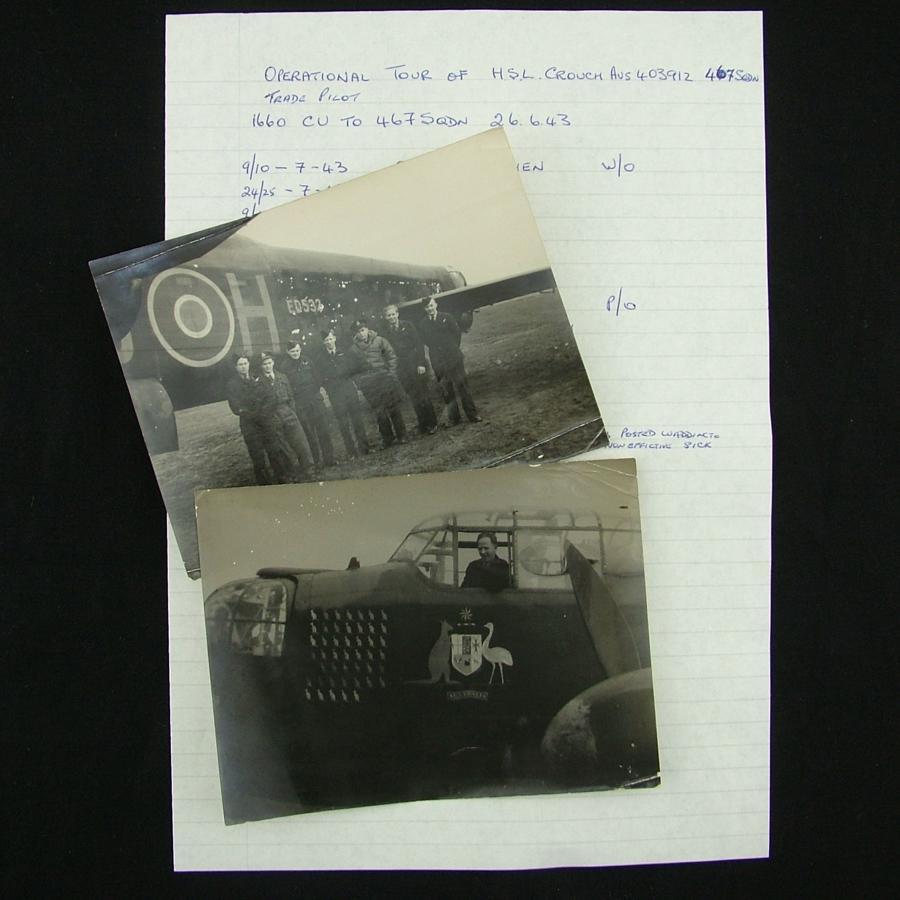 RAF / RAAF aircrew photographs - history