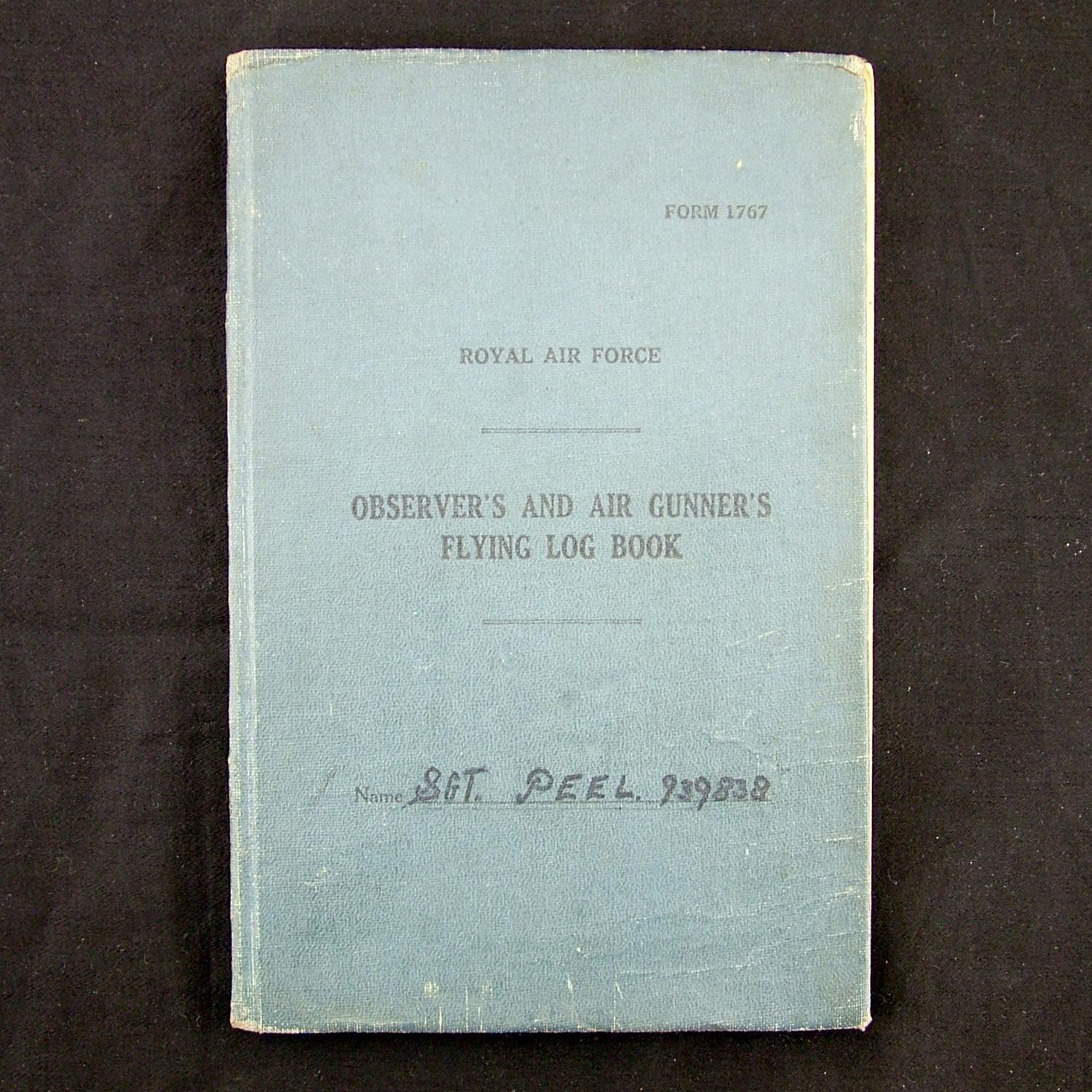 RAF air gunner log book, 405 Squadron