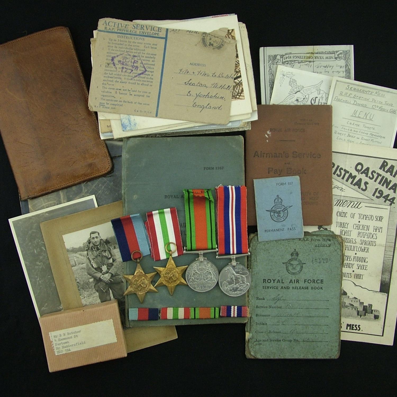 RAF airgunner log book/medal grouping, 70 squadron