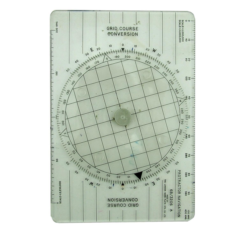 RAF navigation protractor