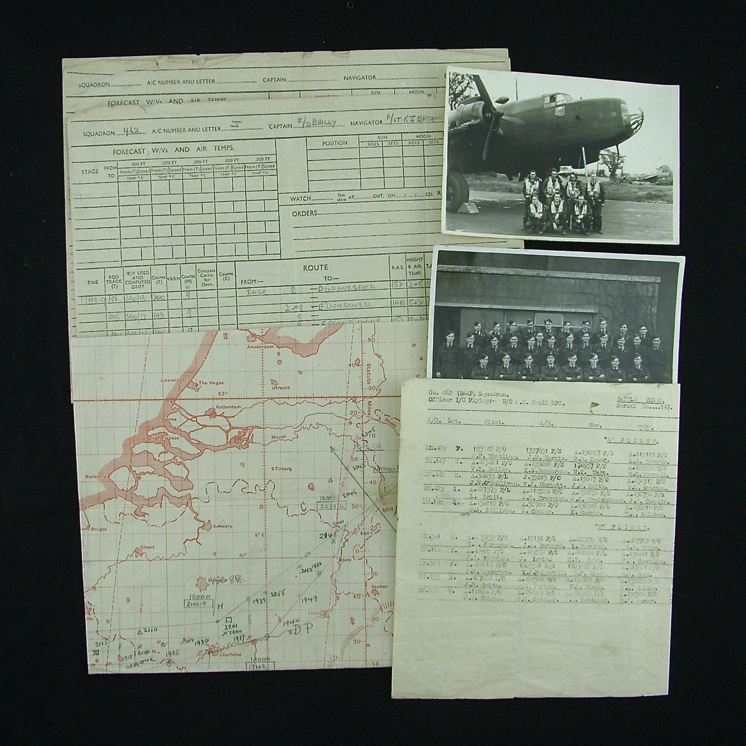 RAF / RAAF navigator's bombing raid notes