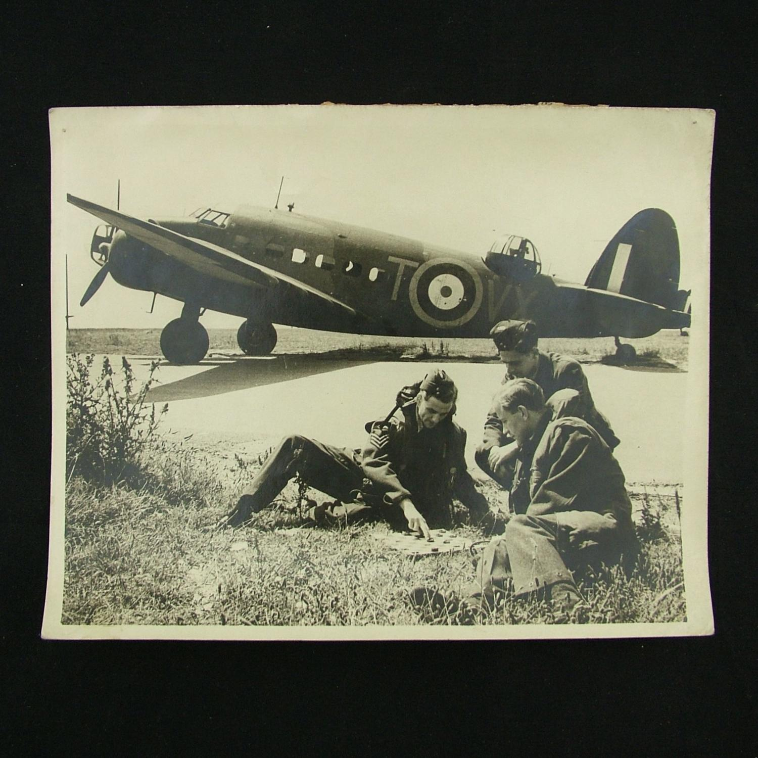 Press photographs - aircrew play games before a sortie