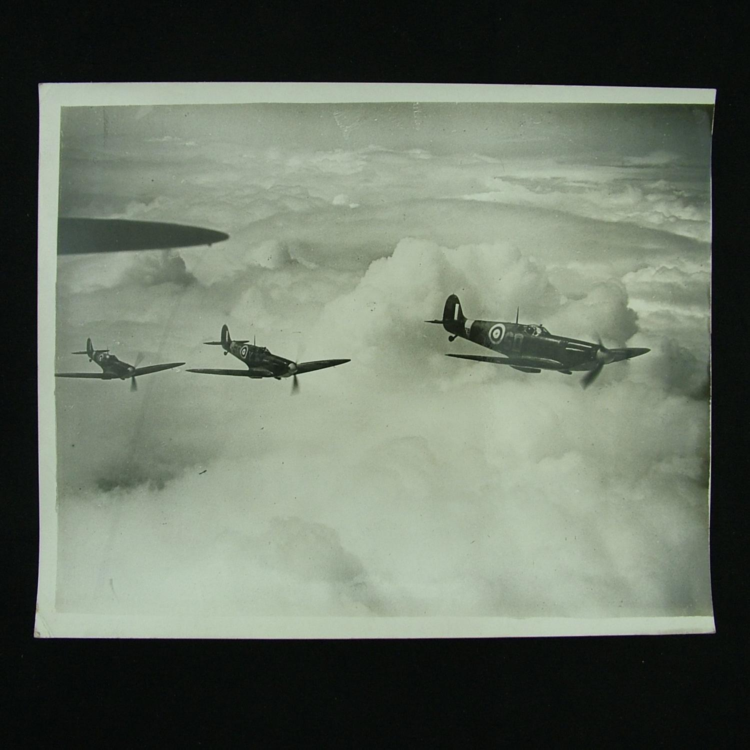 Press photograph - Spitfires on patrol