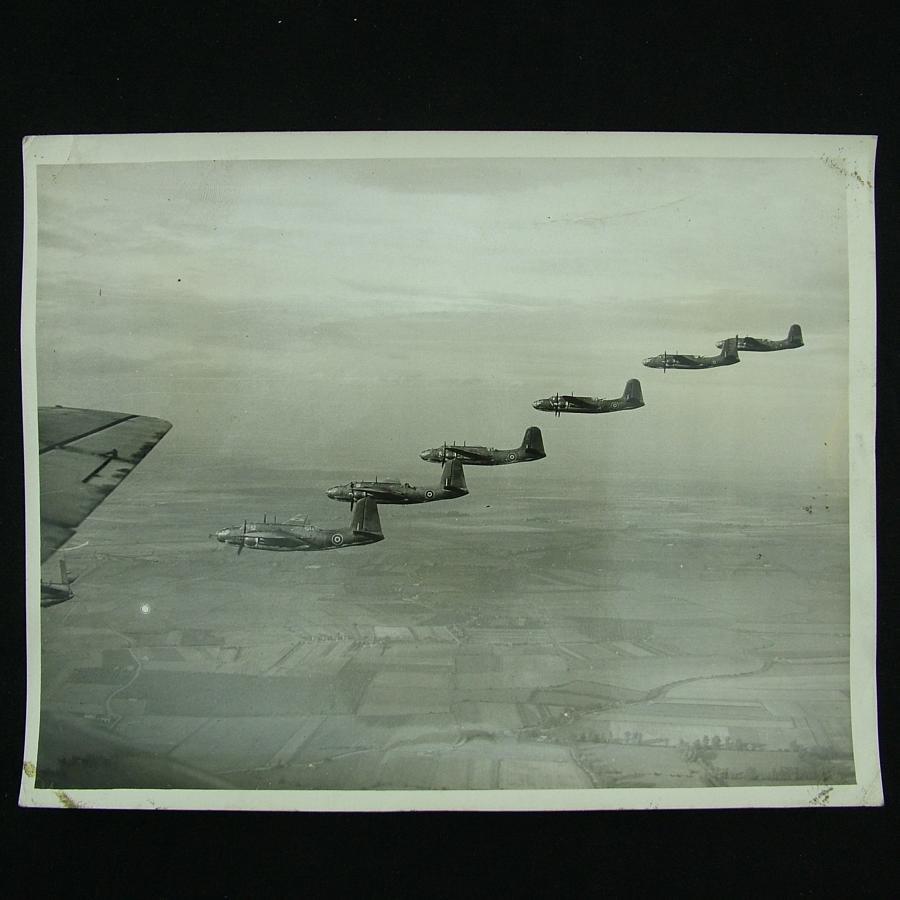 Press photograph - Boston squadron in flight