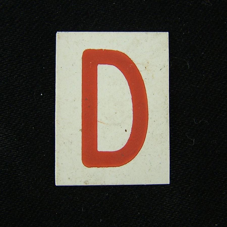 RAF operations room tile 'D'