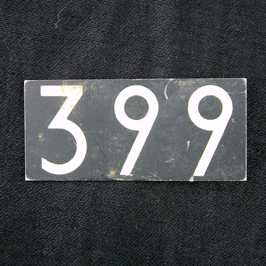 RAF operations room tile, '399'