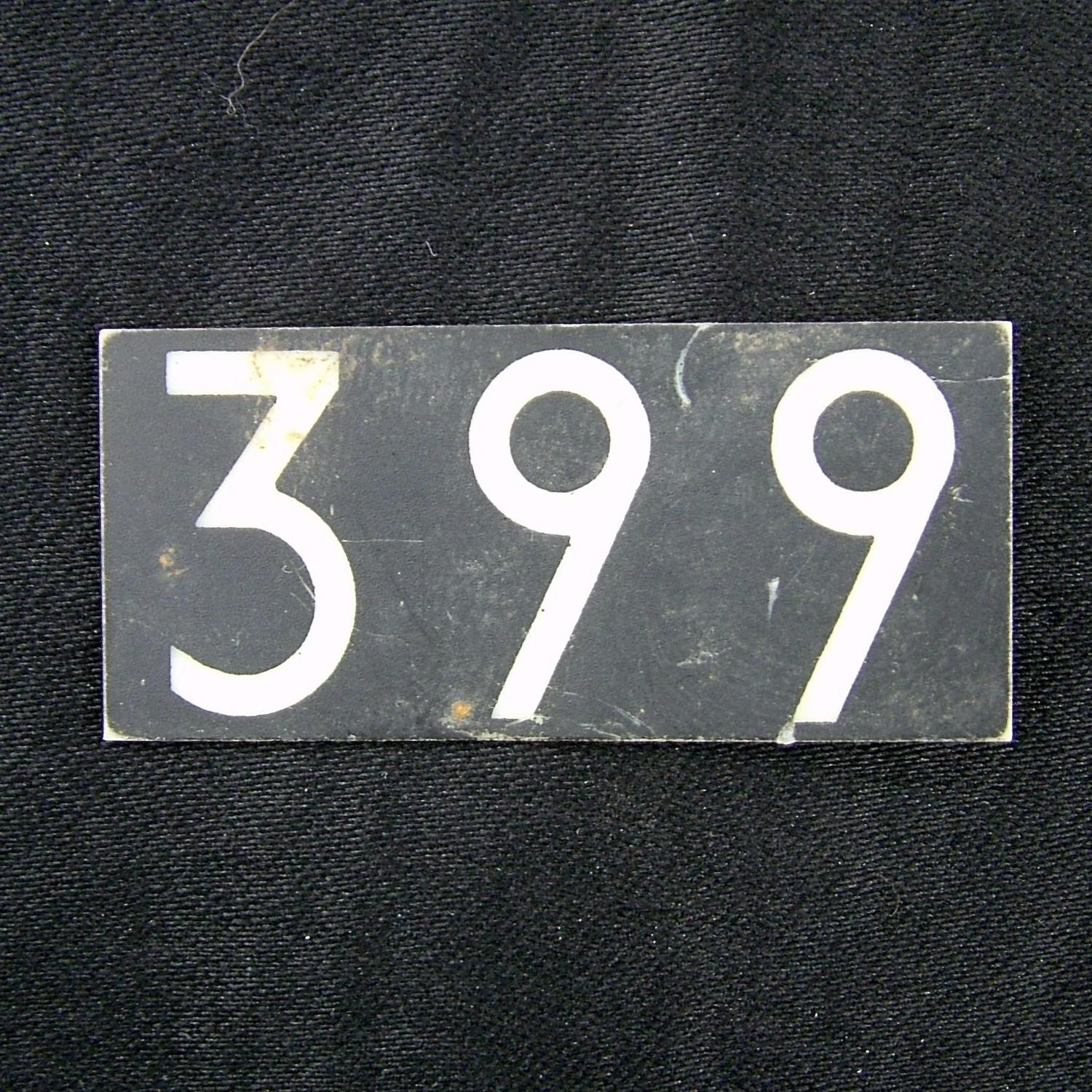 RAF operations room tile, '399'