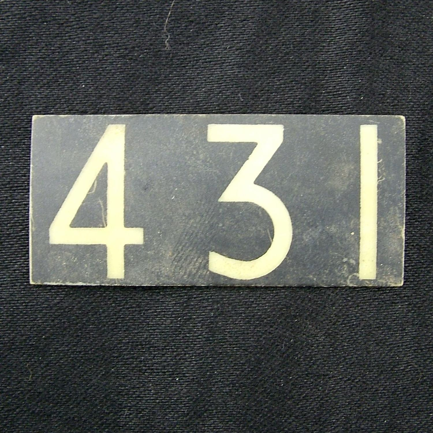 RAF operations room tile ' 431'