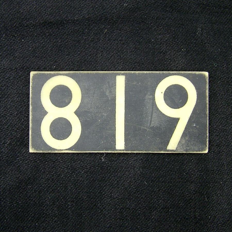 RAF operations room tile '819'