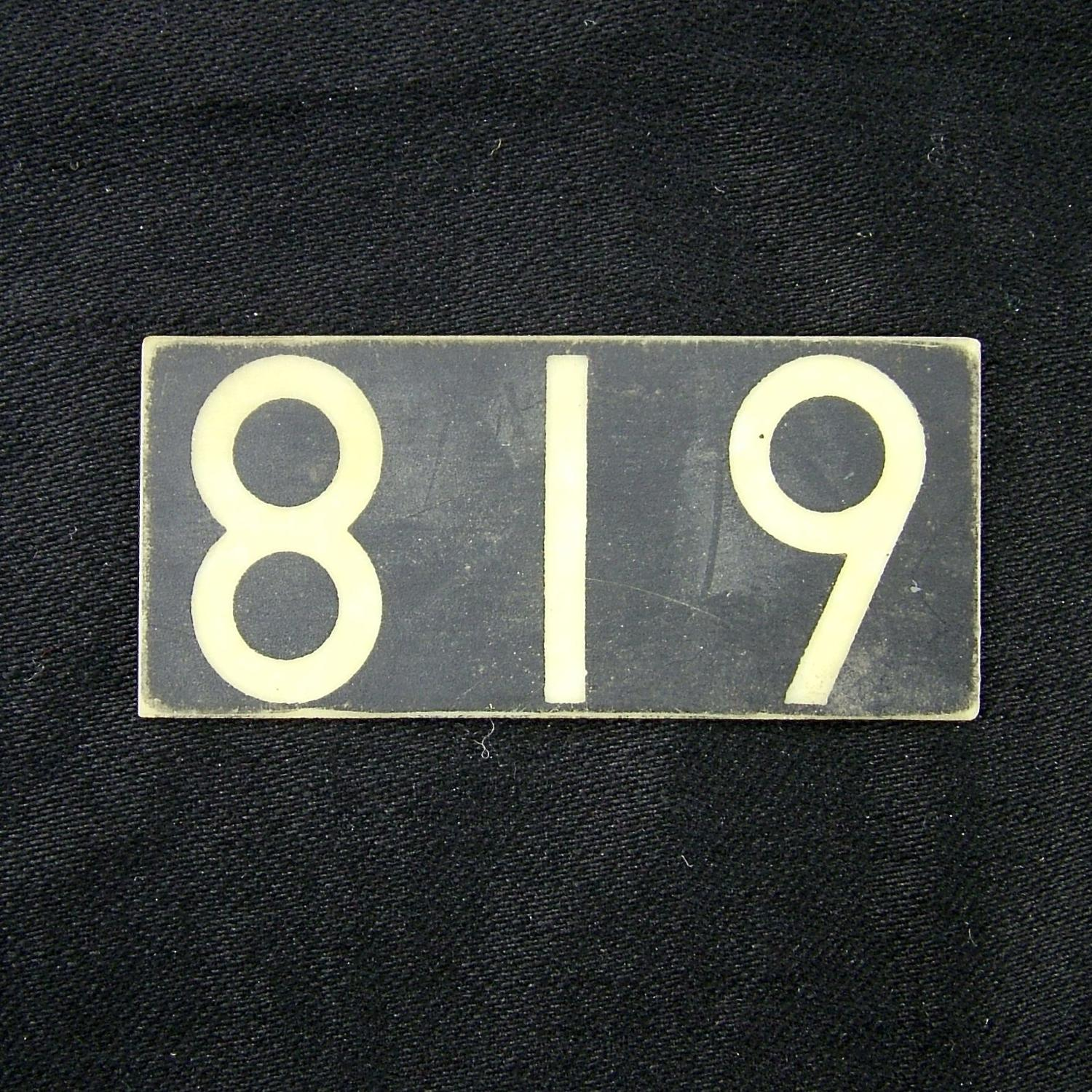 RAF operations room tile '819'