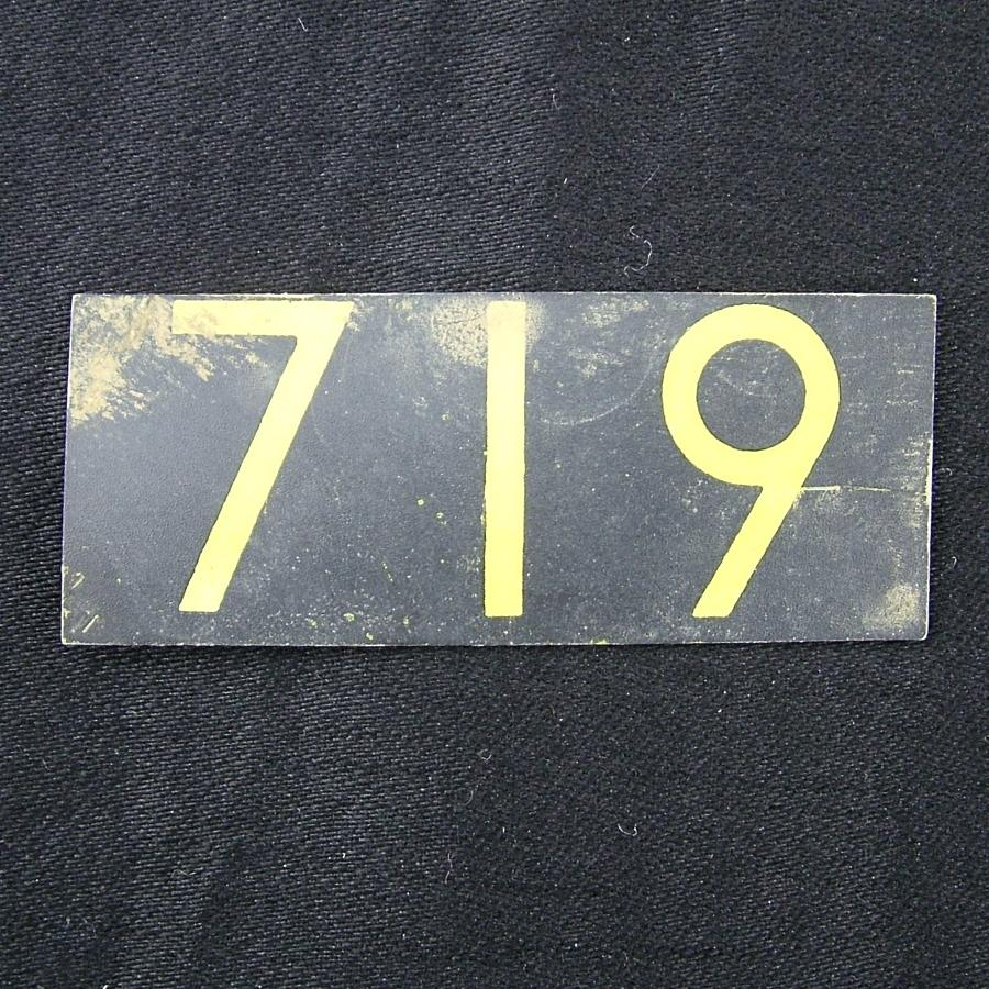 RAF operations room plotting tile ' 719'
