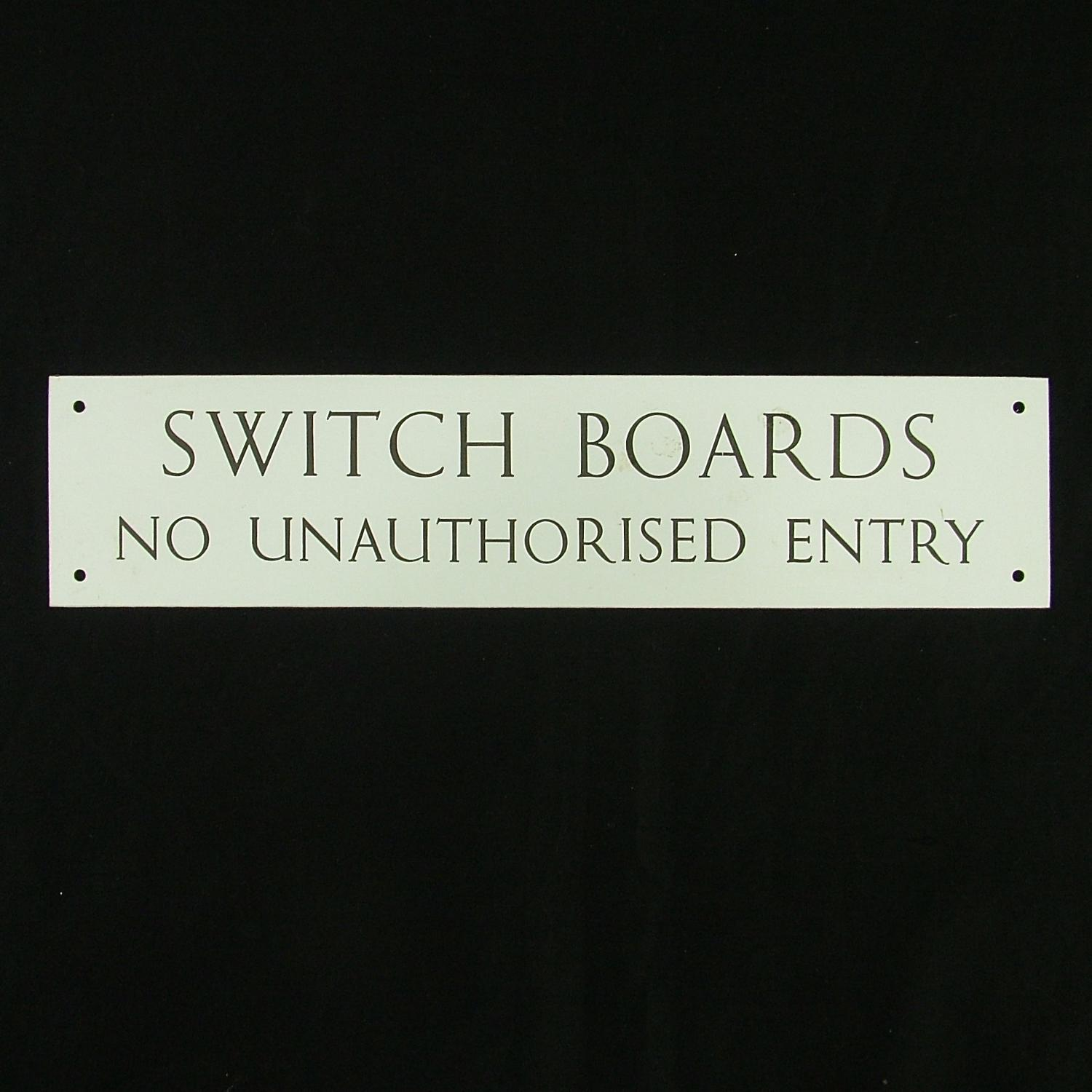 Royal Navy D-day HQ switchboard sign