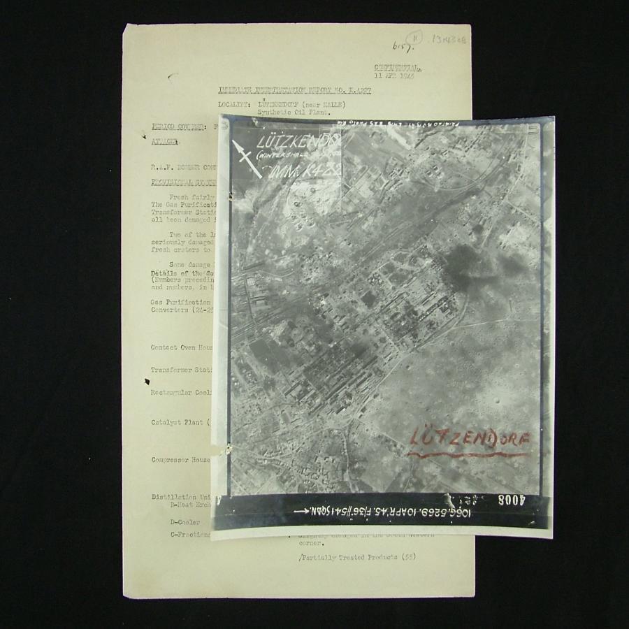 RAF bomber command raid report - Lutzkendorf