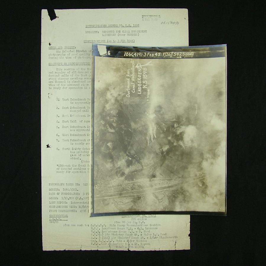 RAF bomber command raid report - Ladbergen