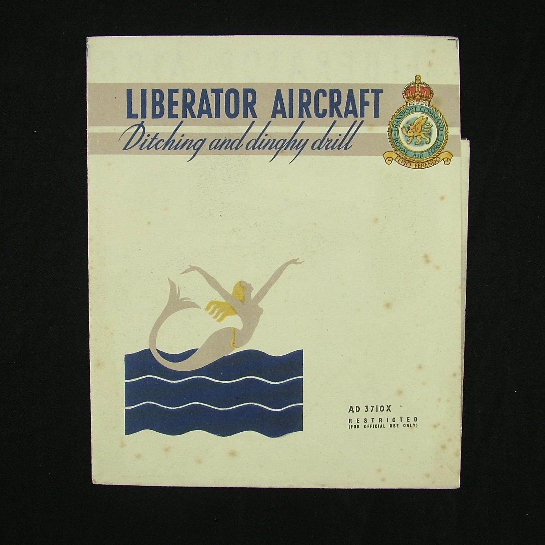 RAF air sea rescue Liberator ditching drill card