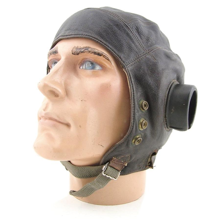 RAF 1st pattern internally wired C-type flying helmet - DFC history