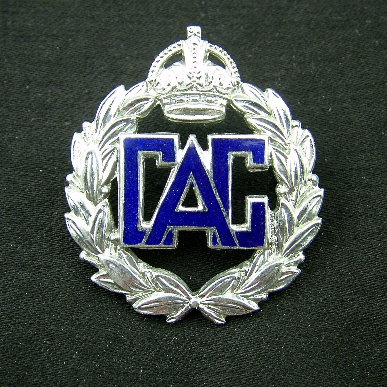 Civil Air Guard cap badge