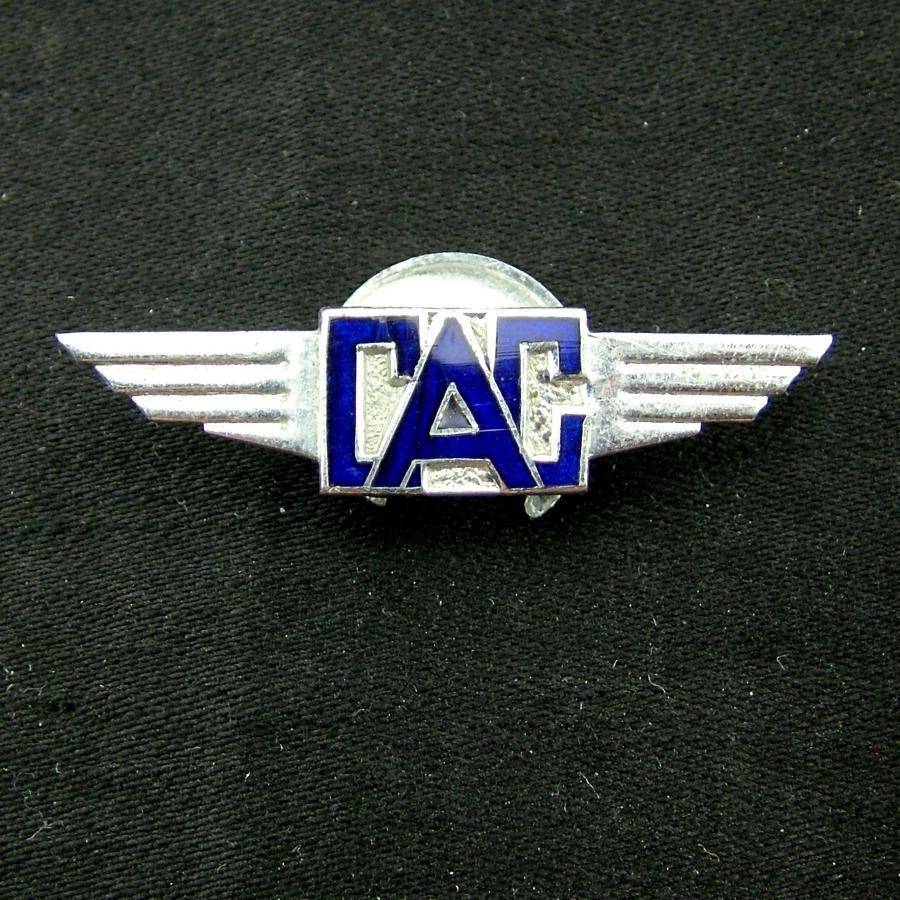 Civil Air Guard lapel badge
