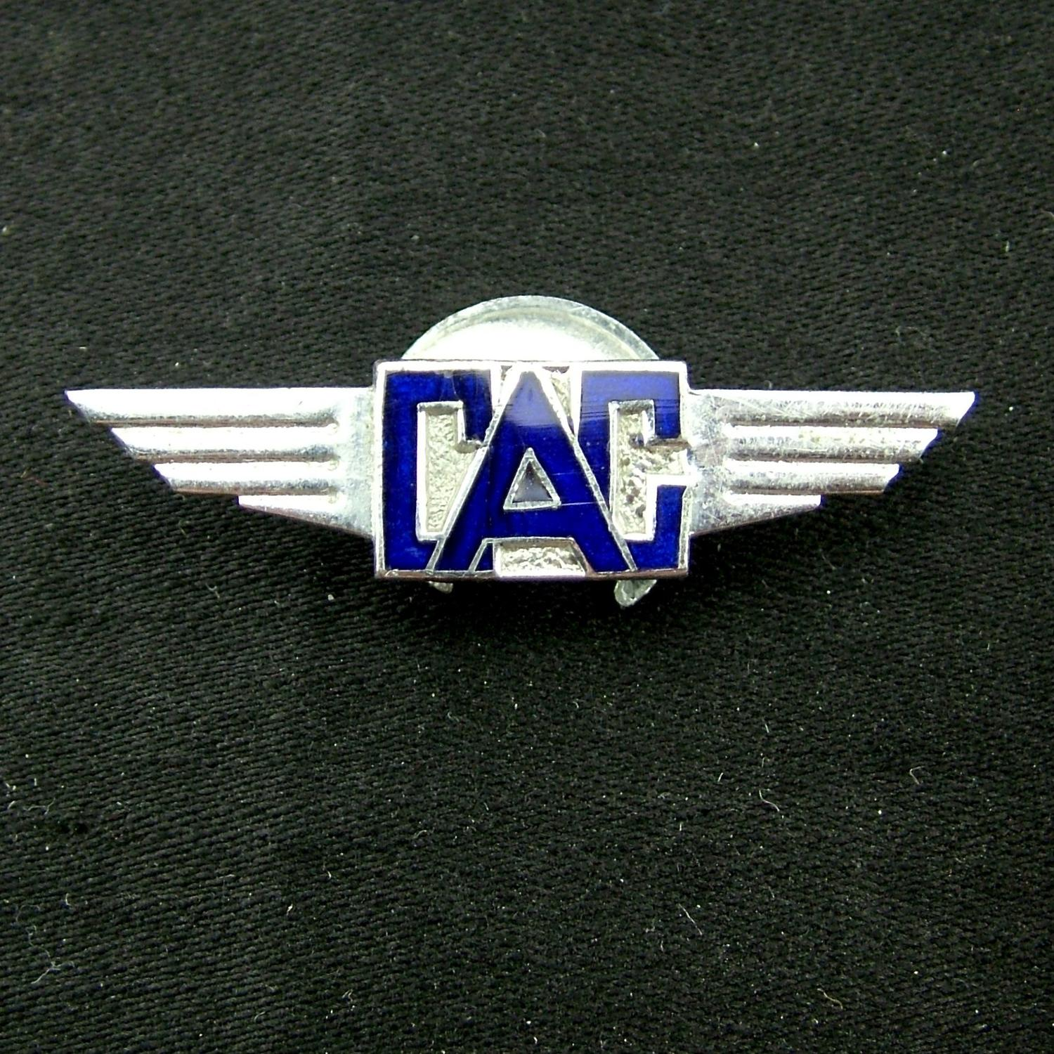 Civil Air Guard lapel badge