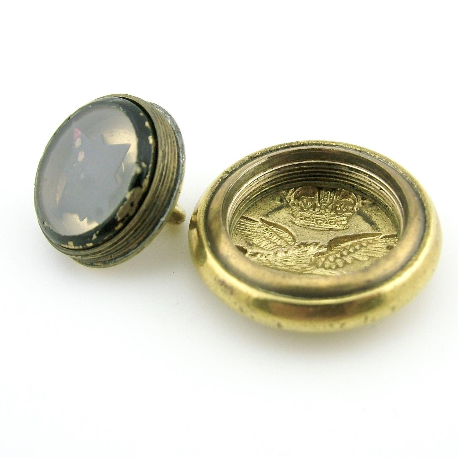 RCAF escape and evasion button compass - history