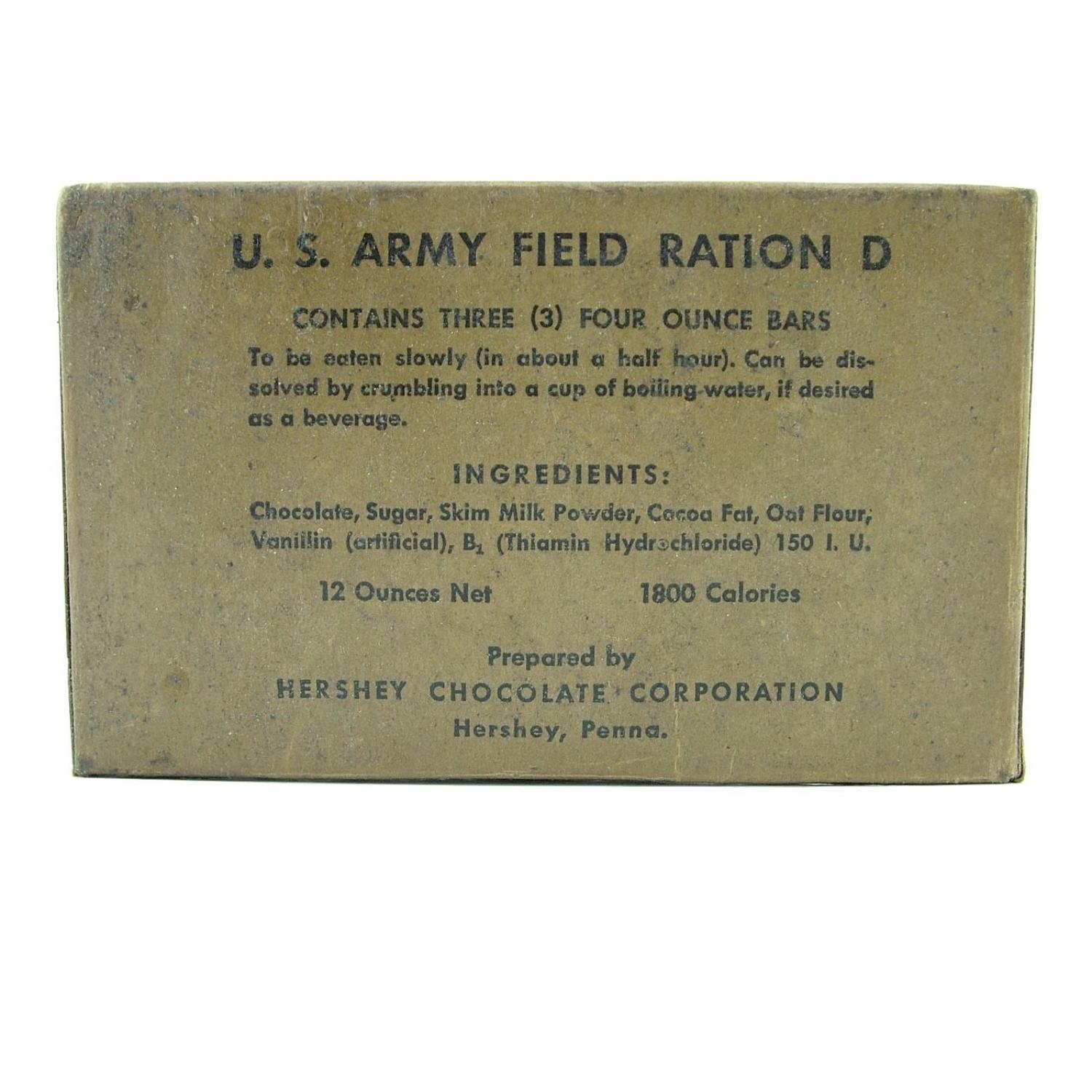 US Army Field Ration Type D - triple pack
