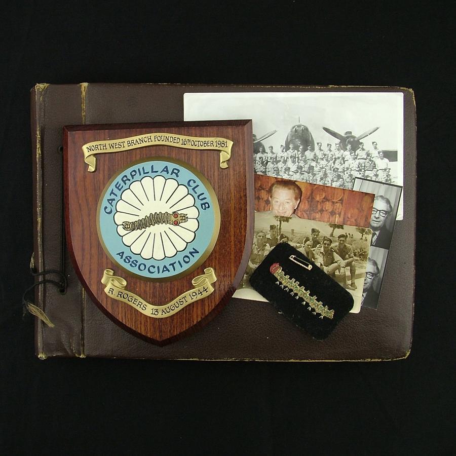 RAF Wop/AG caterpillar badges & photo album