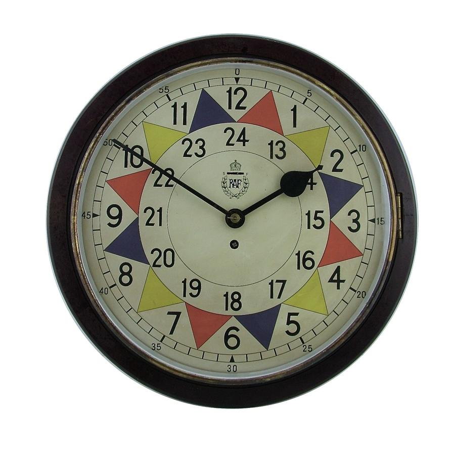 RAF station sector clock, type 2, economy case
