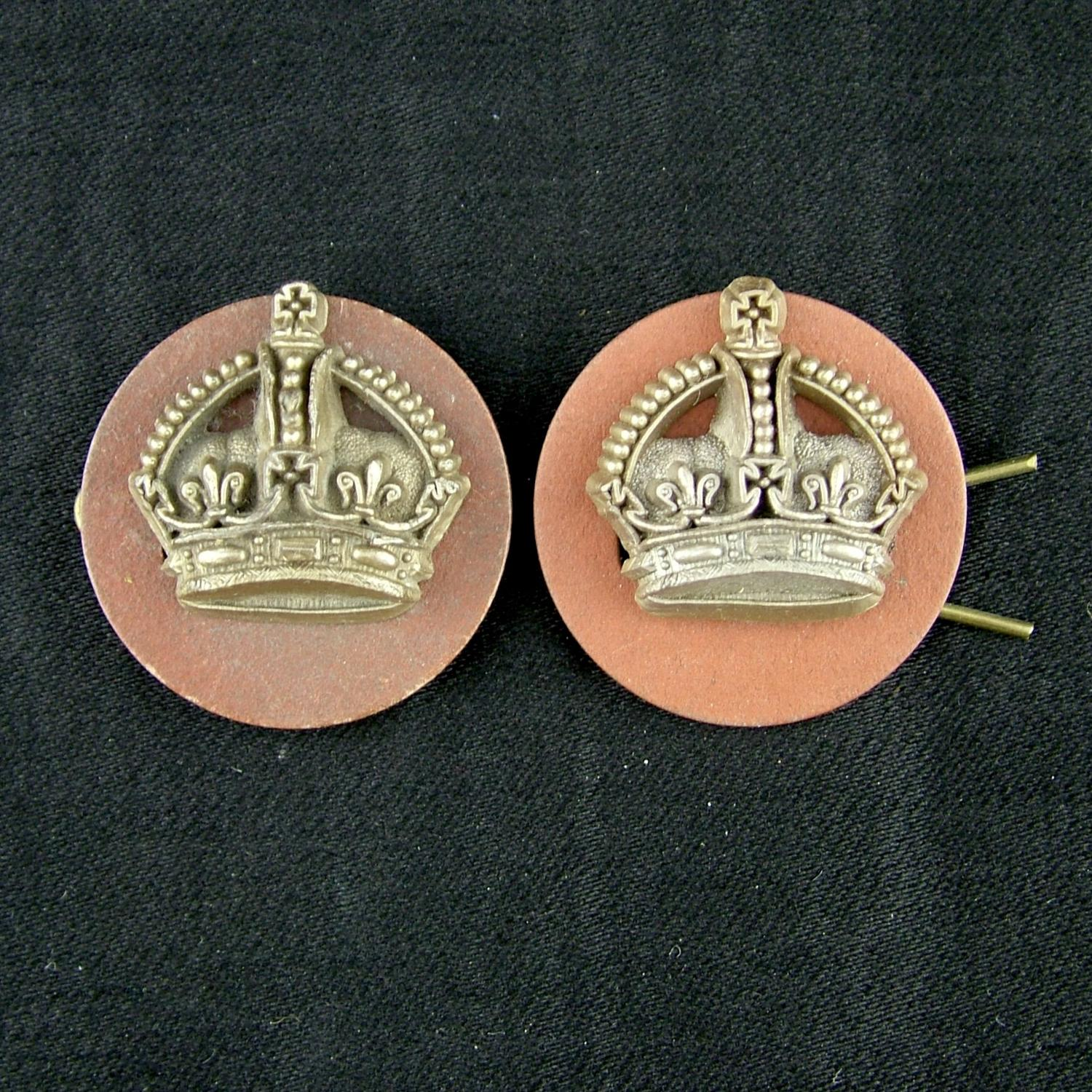 RAF flight sergeant crowns, pair