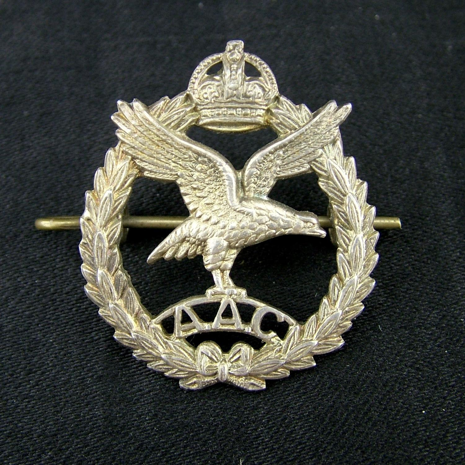 British Army Air Corps officer's badge, history
