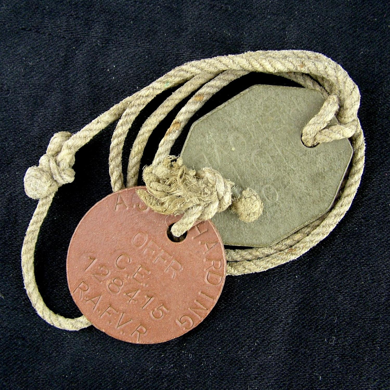 RAF airman's identity tags