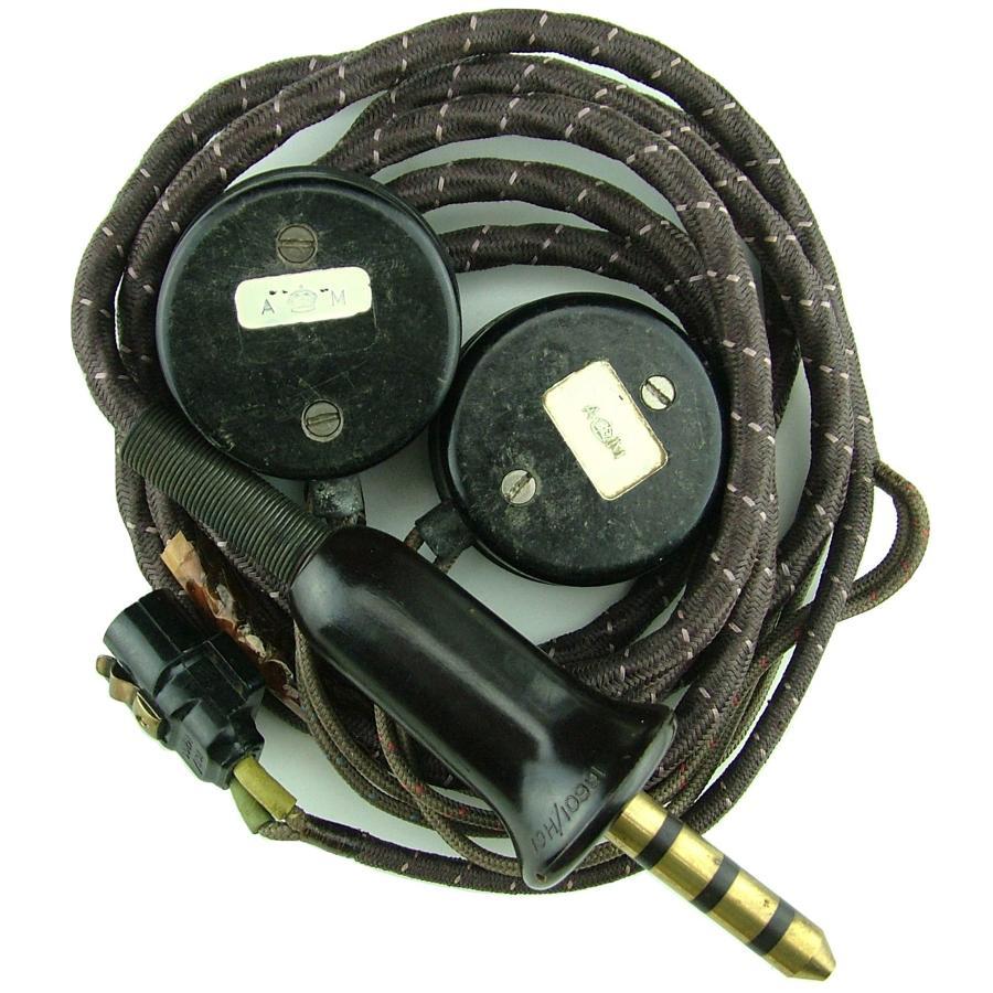 RAF flying helmet wiring loom/receivers