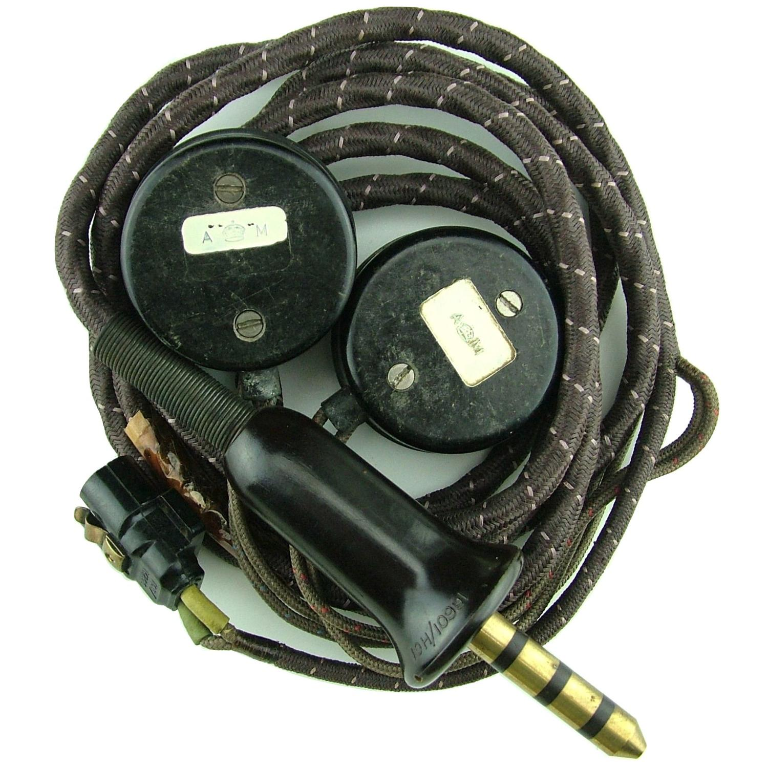 RAF flying helmet wiring loom/receivers