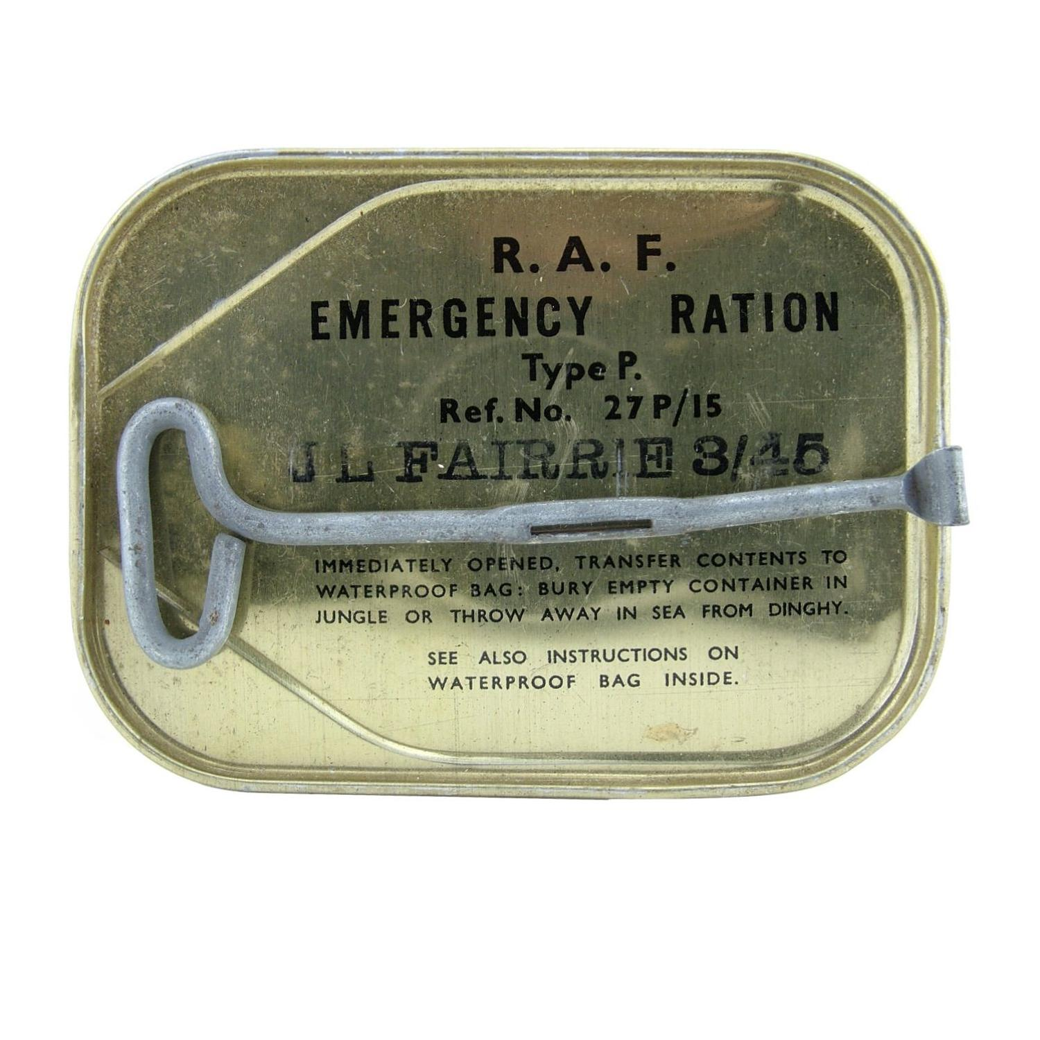 RAF emergency ration, type P