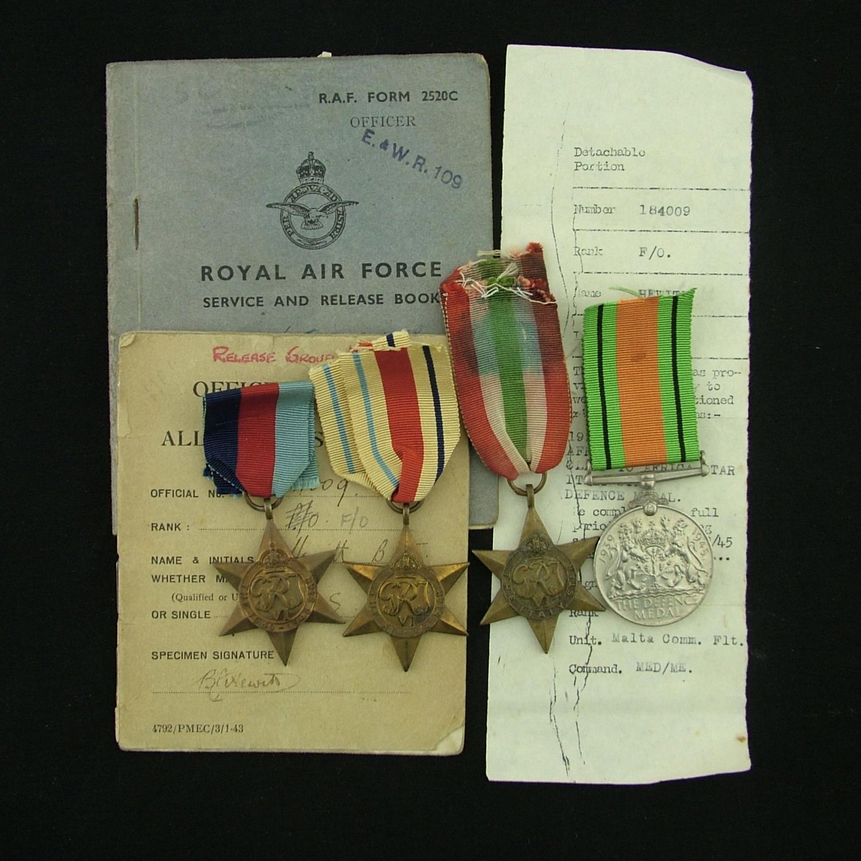 RAF medal group / paperwork