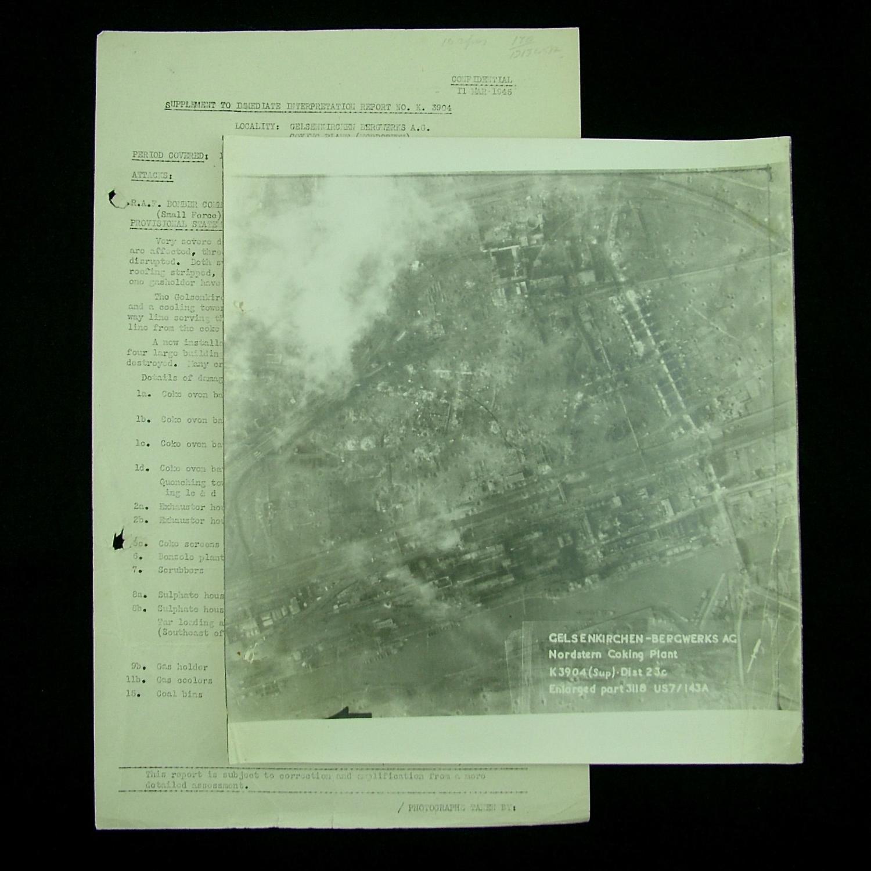RAF bomber command raid report - Gelsenkirchen - Bergwerks