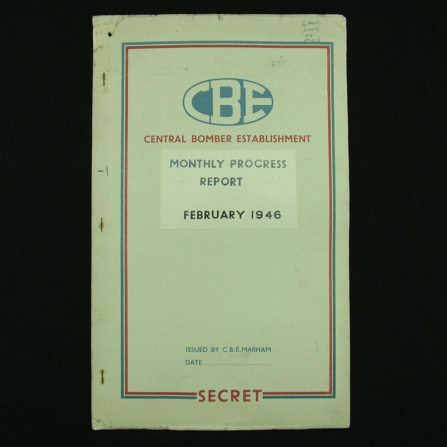 RAF Central Bomber Establishment Secret Report