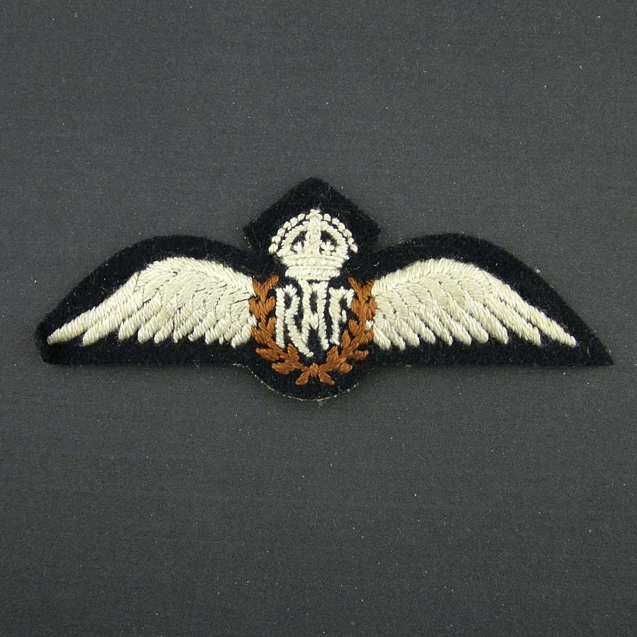 RAF pilot wing, padded - killed in action