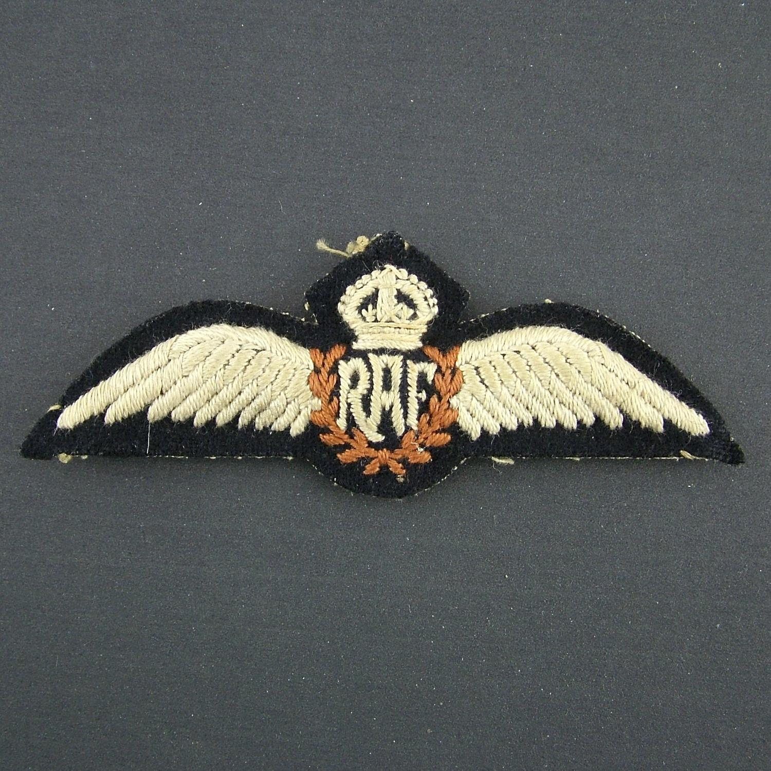 RAF 'tropical' pilot wing - padded