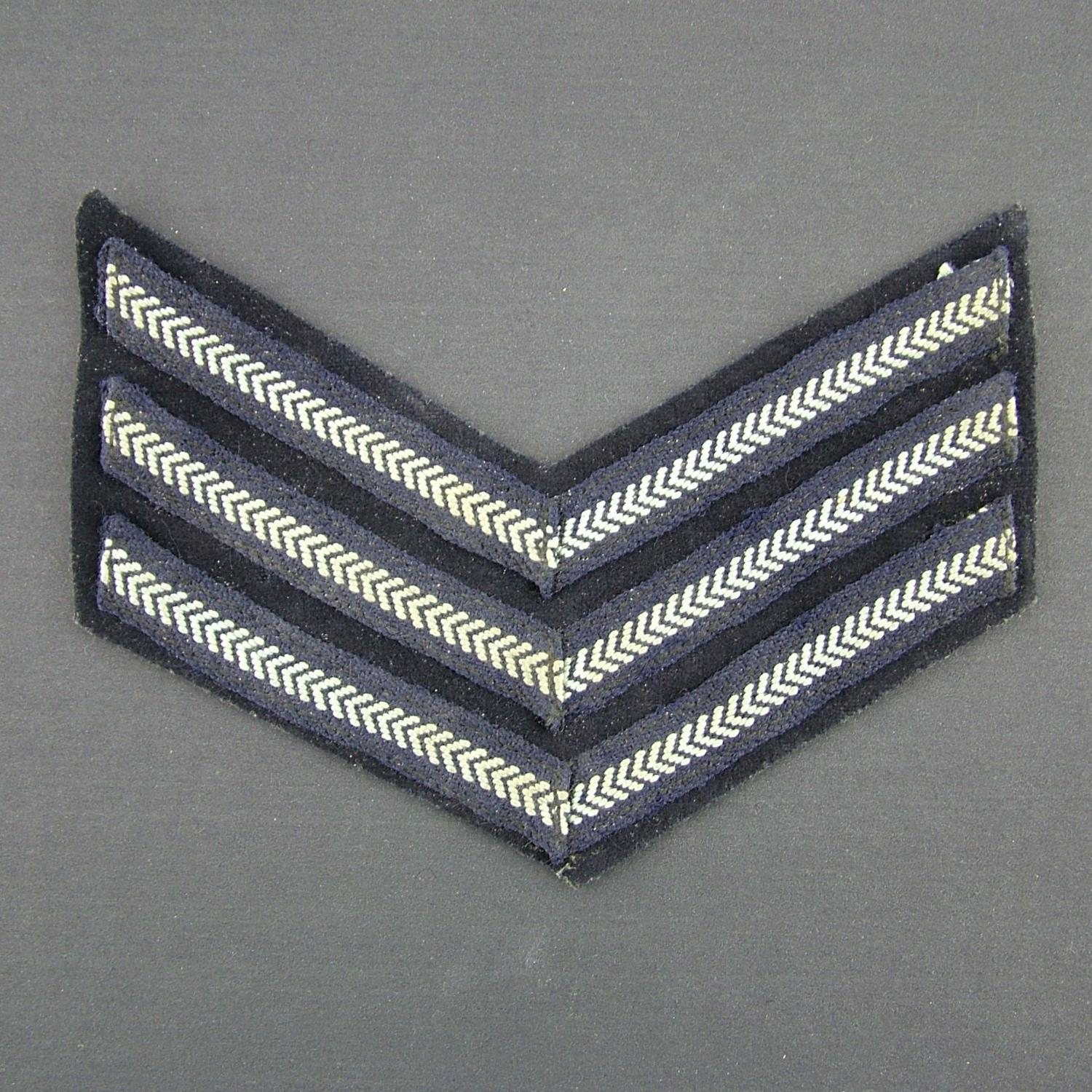 RAF sergeant stripe, single