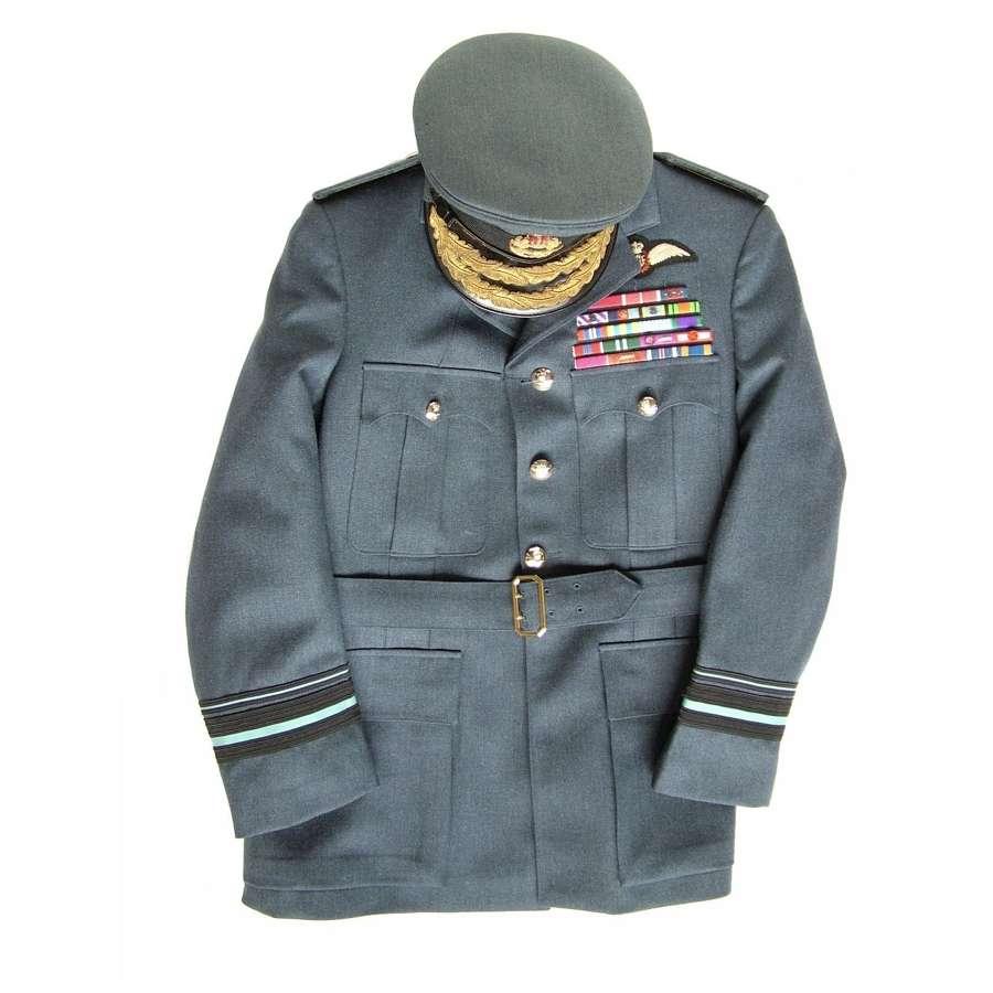 RAF SD uniform / cap (boxed) of AVM James Edgar 'Johnnie' Johnson