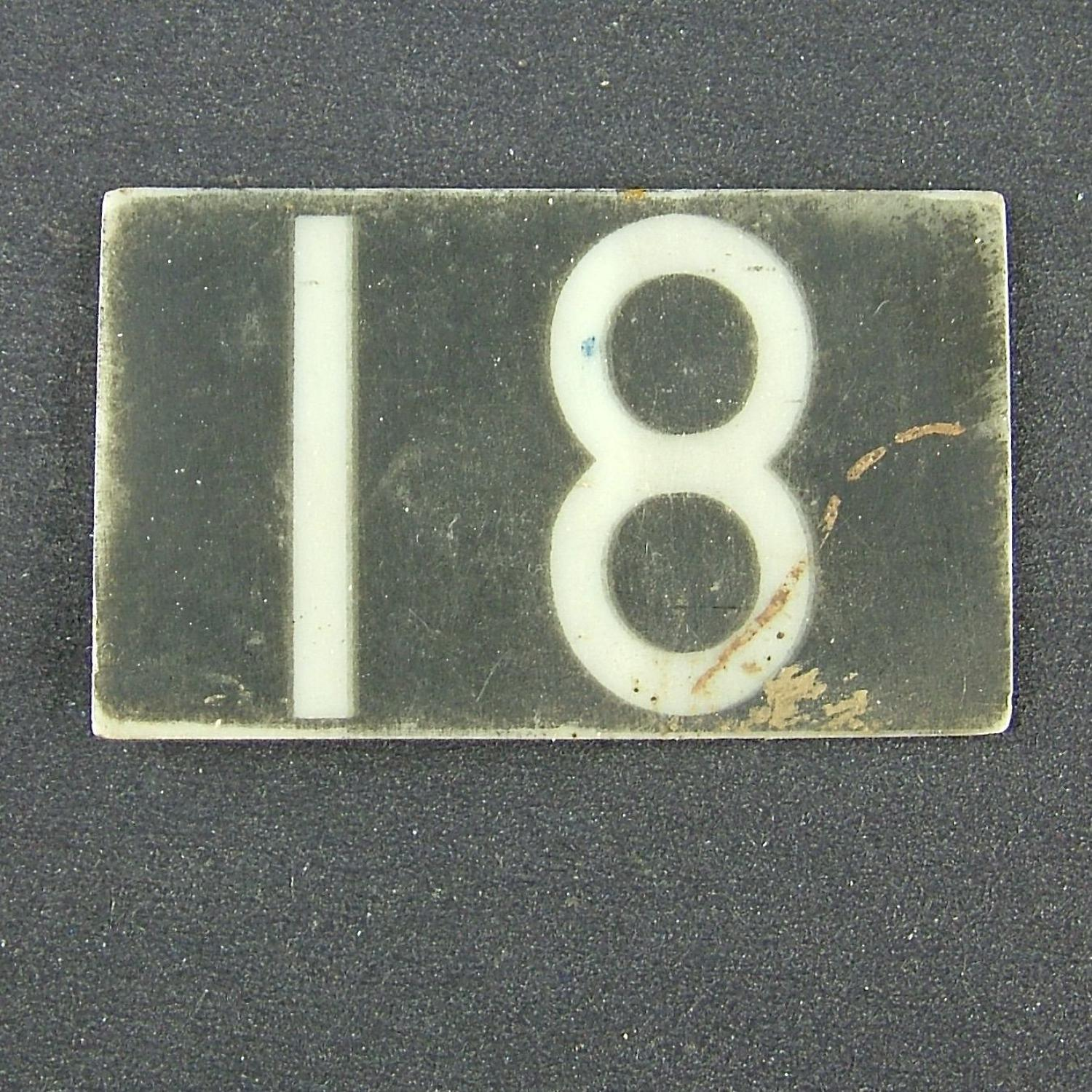 RAF operations room raid block tile '18'