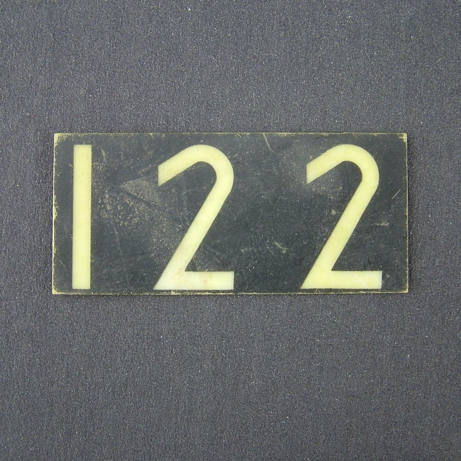 RAF operations room raid block tile '122'