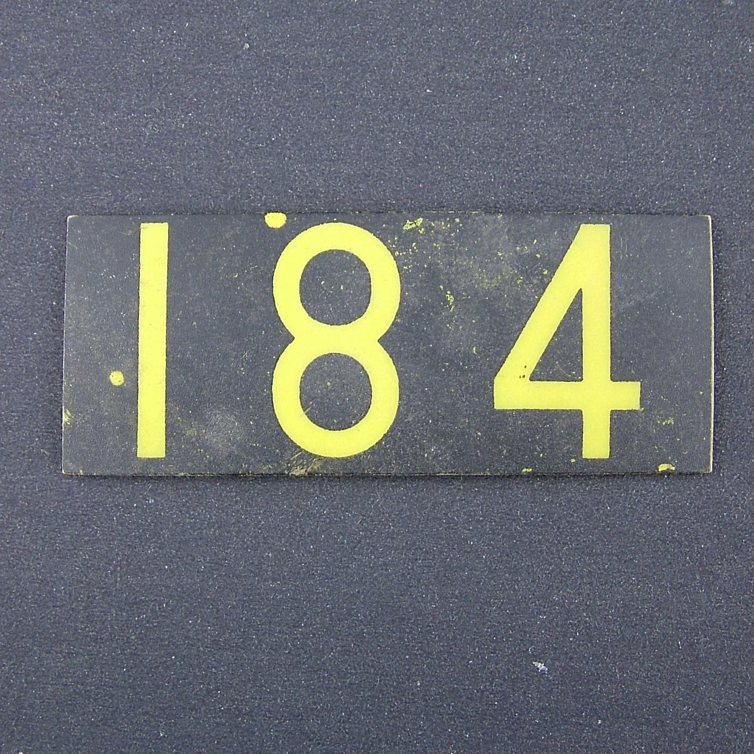 RAF operations room raid block tile '184'