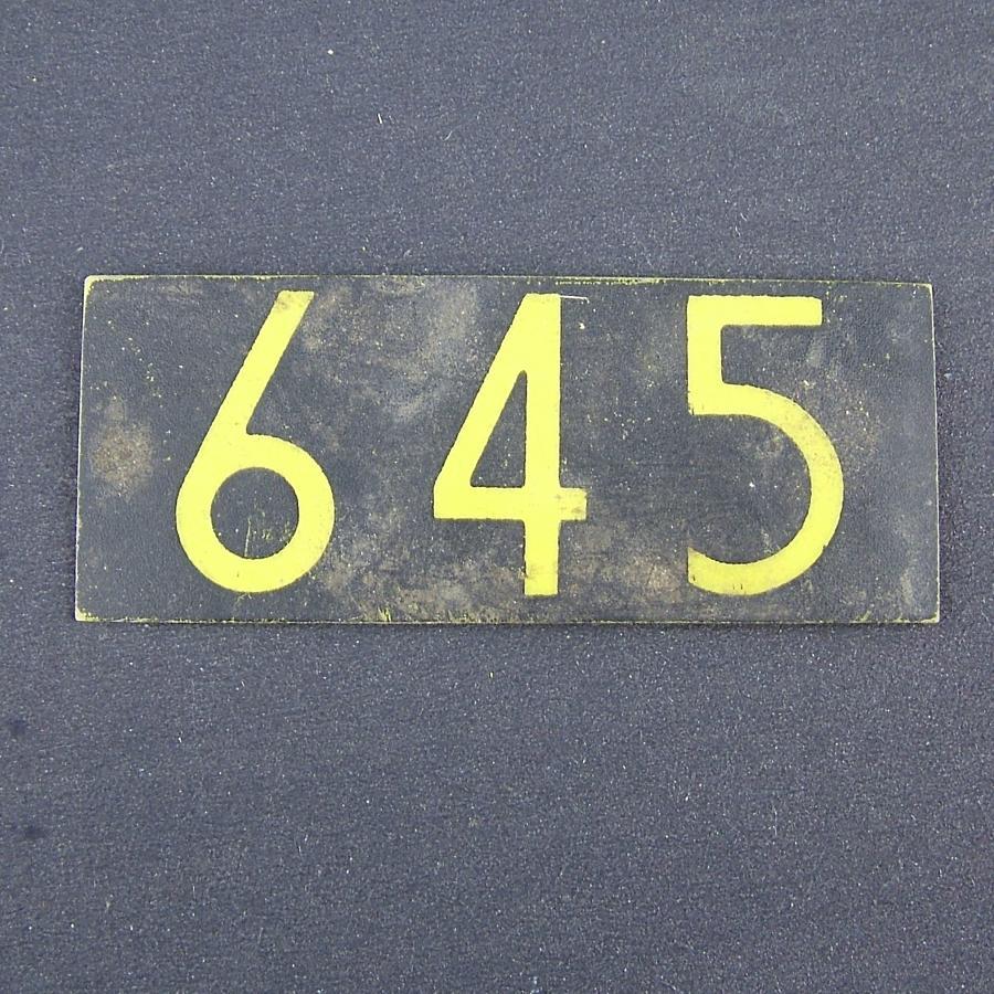 RAF operations room raid block plotting tile '645'