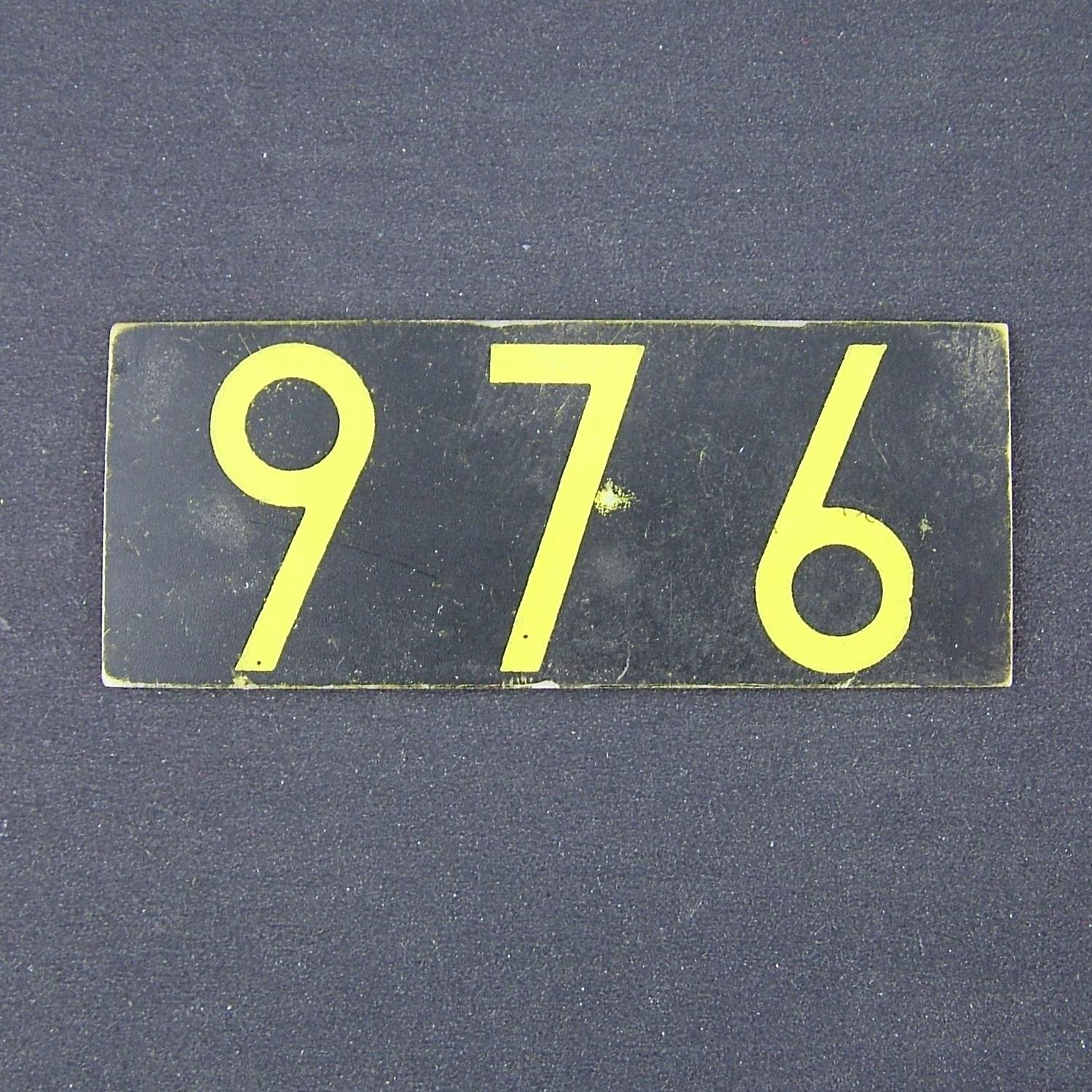 RAF operations room raid block tile '976'