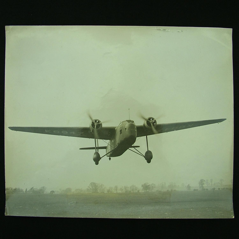 Photograph - RAF Handley Page 'Harrow'